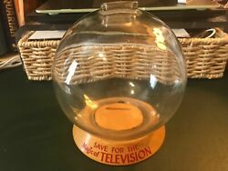 Vic Moran Vintage Bubble Piggy Bank Rare Glass Save For The Magic Of Television