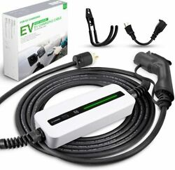 16a Ev Charger J1772 Electric Vehicle Car Charging Cable 6-20p 5-15 Adapter