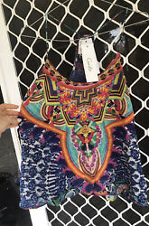 Camilla Franks Artesania Embellished Shoestring Top Size Xs Small 4 Express