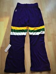 Utah Jazz Sand Knit Game Used Warm Up Game Issued Pants Authentic Jersey 36 80s