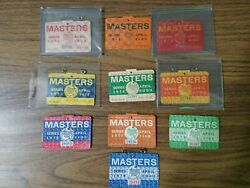 1970s Masters Badges Lot Of 10 1970 To 1979 Augusta National Golf Club