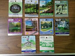 2010s Masters Badges Lot Of 10 2010 To 2019 Augusta National Golf Club