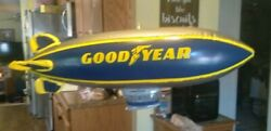 """Vintage Inflatable 32"""" Goodyear Blimp Tire Display Sign Old Gas Station Display"""