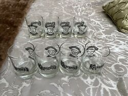 Kahlua Colorado Bulldog Branded Drinking Glass Set Of 8 In Mint Condition Rare