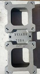 Weiand 7164 6-71 Blower 2 Carb Plate