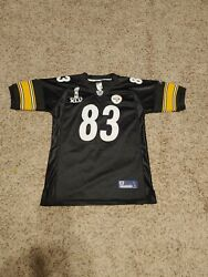 Rbk Pittsburgh Steelers Heath Miller Youth Super Bowl Xlv Jersey Size Large