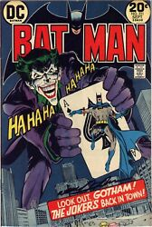 Batman 251 Classic Cover Signed By Neal Adams Nice Copy Fn-vf