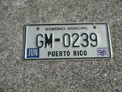 Puerto Rico 1996 G M Motorcycle License Plate 239