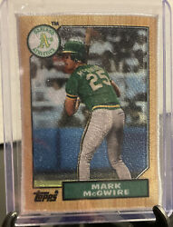 2021 Topps Series 1 Mark Mcgwire Fabric Patch Rookie Reprint