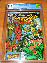 Amazing Spider-man 124 - Cgc 9.4 Nm 1st App. Of The Man-wolf White Pages