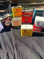 Vintage Spice Tins Lot Of 7 Tins Exact Tins Shown In Pictures