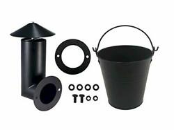 Pellet Grill Smoker Stack Replacement Parts For 1 Smoke Stack +1 Black Bucket