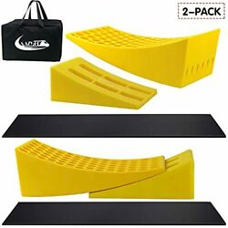 Eazy2hd Camper Leveler 2 Pack - Rv Leveling Blocks Includes Two Curved Levele...