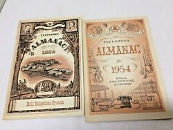 Vintage 1954 And 1959 Telephone Almanac Bell System Telephone Lot Of 2 Booklets
