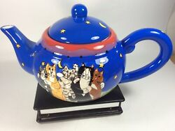 Candace Reiter Starry Nights Catzilla Large Teapot