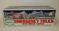 New Hess 2005 Toy Emergency Truck With Rescue Vehicle Lights Up Siren