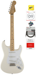 Fender Jimmie Vaughan Tex-mex Stratocaster In Olympic White With Gig Bag, Bundle