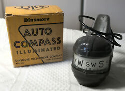 New In Box Dinsmore Illuminated Compass Flint Gm Chevy Buick Olds Cadillac Parts