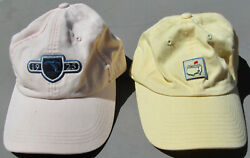 Lot Of Two Ladies Golf Hats--harding Park And Masters--adjustable