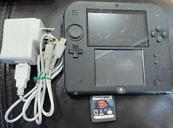 Nintendo 2ds Launch Edition Blue And Black Handheld System W/ Memory Card And Game