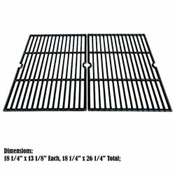 Cast Iron Cooking Grid Grates 2-pack 18 1/4 For Charbroil Kenmore Master Forge