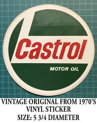 Castrol Motor Oil Vintage Original From 1970and039s Vinyl Sticker - Decal Racing
