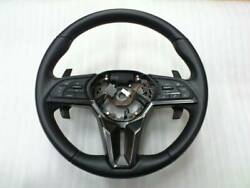 Nissan Genuine 2017- R35 Gt-r Gtr Steering Wheel Black Leather And Red Stitch