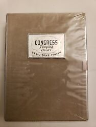 2 Decks Congress Playing Cards Cel-u- Tone Finish Victorian Lady With Hat