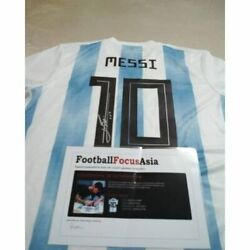 Lionel Messi Signed Jersey Argentina Player Football Famous Focus Autograph