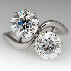 3ct White Round Cut Most Beautiful Antique Twin Diamond Ring 925 Sterling Silver