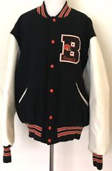 Gorgeous Cincinnati Bengals Delong Heavy Football Wool And Leather Xl Jacket Nwot