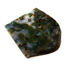 411 Cts. 100 Nartural Green Moss Agate Slice Rough Minerals Sng4090