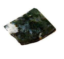 405 Cts. 100 Nartural Green Moss Agate Slice Rough Minerals Sng4109