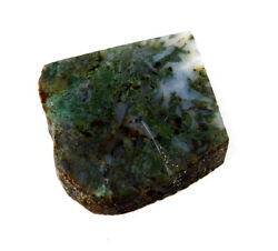 433 Cts. 100 Nartural Green Moss Agate Slice Rough Minerals Sng4129