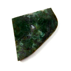 Cts. 100 Nartural Green Moss Agate Slice Rough Minerals Sng4108410