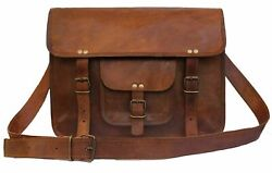 Leather Laptop Bag Leather Messenger for Men and Women Briefcases for Men $47.83