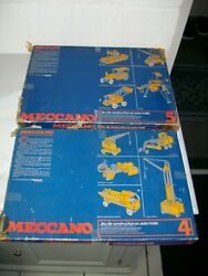 Vintage Meccano Construction Toys In Original Boxes From 1970's