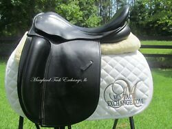 17.5 County Fusion Xtr Dressage Saddle-wool- Med/wide Tree-2012 Model+ Cover