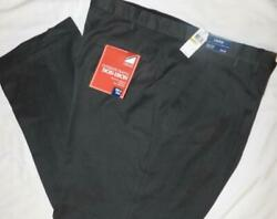 Izod Ultimate Travel Pants Stretch Waist Insert Pleated Cuff Big And Tall Charcoal