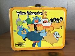 Vintage Yellow Submarine Lunchbox No Thermos