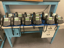 Lot Of 12 Polycom Soundpoint Ip 450 Phones With Power Supply Voip
