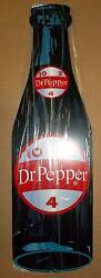 Nice Die-cut Dr. Pepper Bottle Sign. Great Colors, And Shine. Porcelain Look