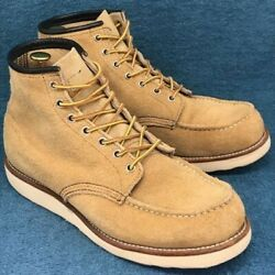 Red Wing Work Boots Mens 10e Skin Beige Genuine Leather 6 Size 10 Shoes