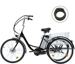 Viribus 3 Wheel Electric Bike For Adults With 250w Motor, Bike Tube, Removable 3