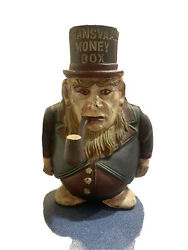 Antique C1900 Cast Iron Paul Kruger Transvaal Money Box Made In England Gazelie