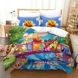 Winnie The Pooh Duvet Cover Bedding Set Comforter Quilt Cover With Pillowcase 02