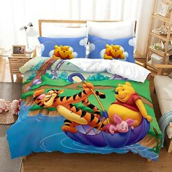 Winnie The Pooh Duvet Cover Bedding Set Comforter Quilt Cover With Pillowcase 07