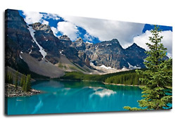 Large Moraine Lake Canvas Wall Art Bedroom Wall Decor Mountain Picture Canvas x