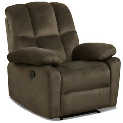 Gymax Recliner Chair Single Sofa Lounger Home Theater Seating W/footrest