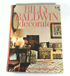Billy Baldwin Decorates - A Book Of Practical Decorating Ideas- 1972 Publication